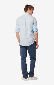 SHIRT LINEN TA. FIT B.D. Cloud blue