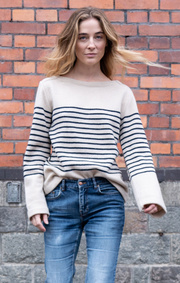 Boomerang - STRIPED WOOL SWEATER - Offwhite