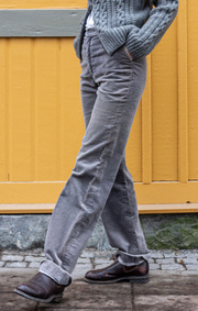 Boomerang - CORDCHINOS SOFT - Grey melange